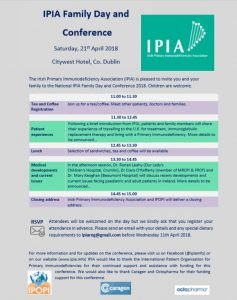 IPIA Family Meeting & Conference April 21st, 2018 @City West Hotel